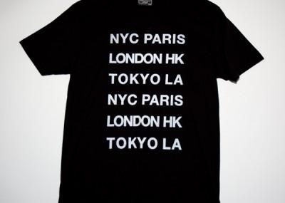 NYC PARIS Font Tee